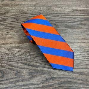 Brooks Brothers Orange & Blue Stripe Skinny Tie